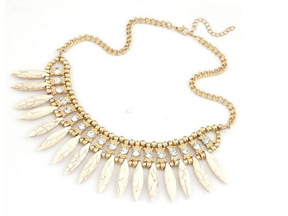Crystal Pendant Chain Choker Chunky Statement Bib Necklace
