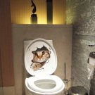 Cats 3D Wall Sticker Toilet Stickers Home Decoration Animal Vinyl Decals Wall Stickers