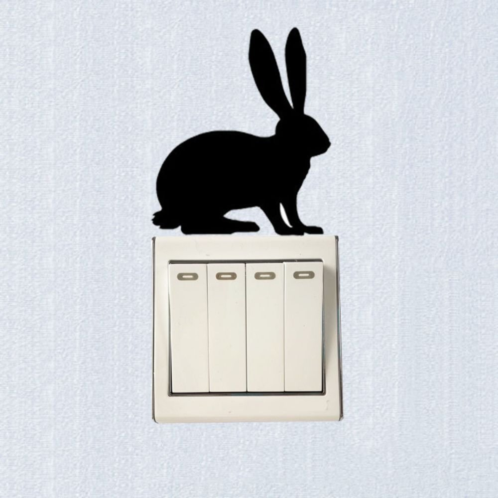 Removable Bunny Rabbit Vinyl Switch Sticker Decor Wall Decal
