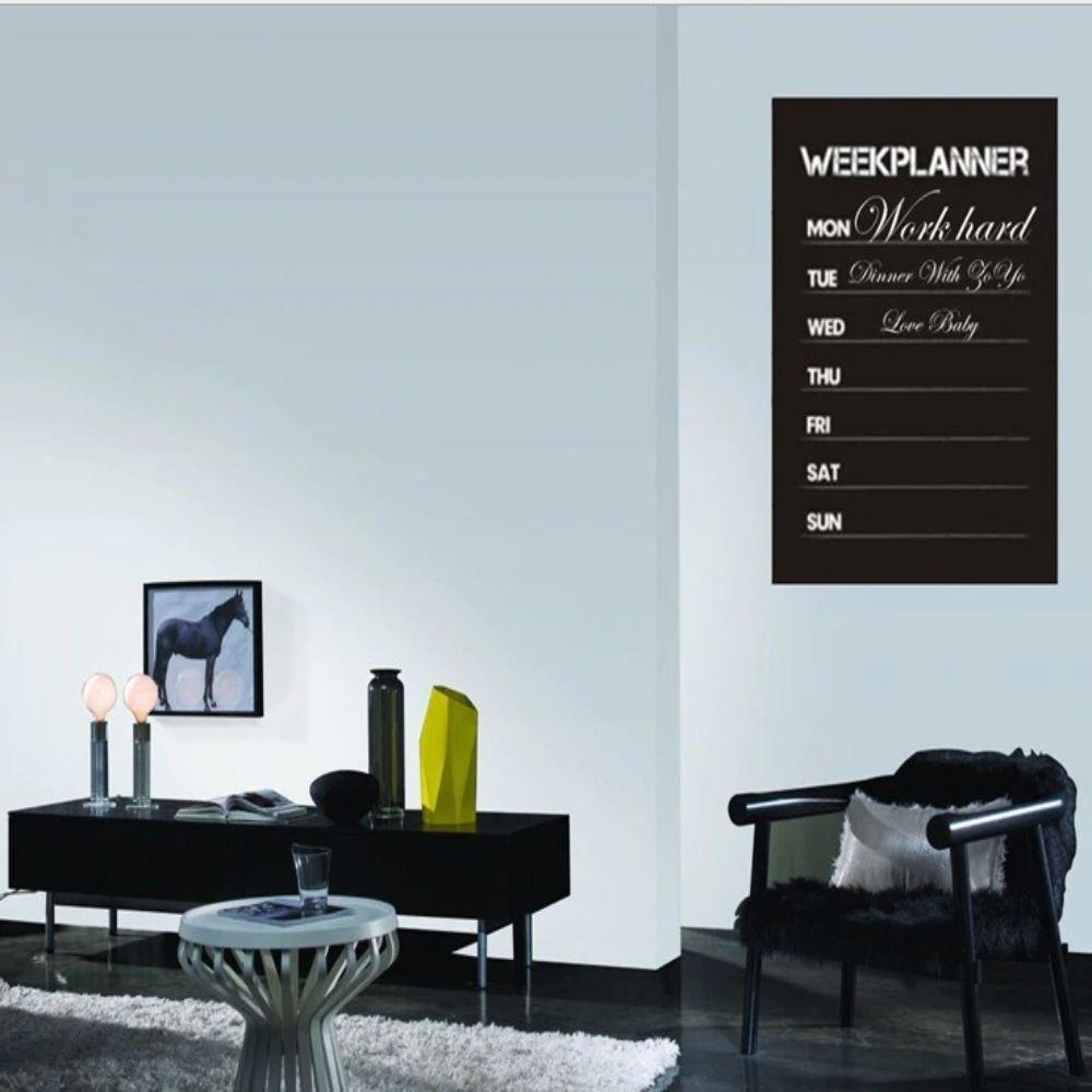 Diy week planner chalkboard calendar Decal Removable Planner Vinyl Wall Stickers