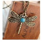Fashion Vintage Gold necklace Hollow Dragonfly Pendant Necklace