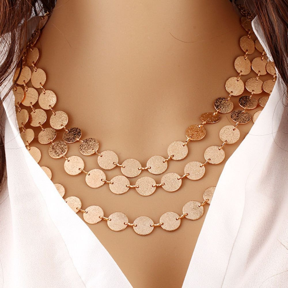 Ethnic Coins Leaves Triangle Bar Round Chokers Statement Pendant Necklace For Women