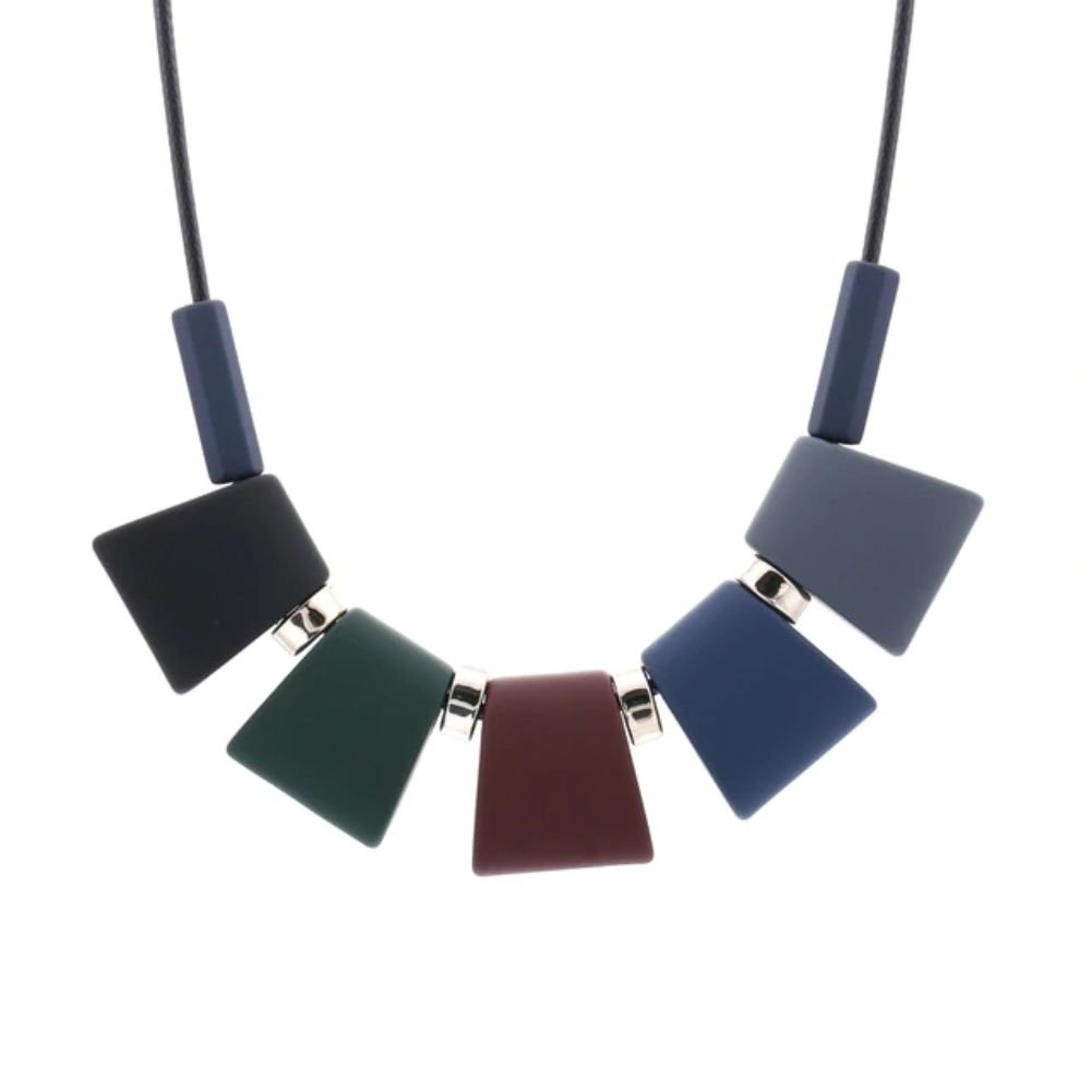 Statement Colorful Wood Beads Pendant Necklace For Women