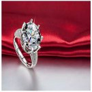 Big CZ Crystal Silver Color Heart Ring For Women (8)
