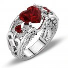 Fashion Crystal Trendy HollowHeart Crown Bride Ring For Women (8)