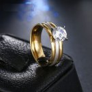 Fashion Brilliant CZ Titanium Stainless Steel Ring For Women (7)