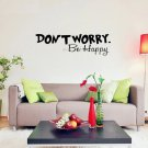 Don't Worry Be Happy Inspirational Quote Sticker Living Room Decal Removable Vinyl Wall Stickers