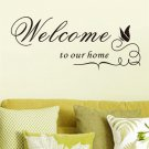 Welcome To Our Home Quote Wall Decals Vinyl Wall Stickers