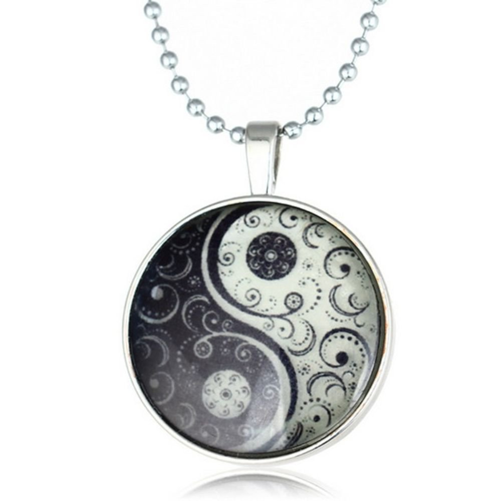 Glow Glass Glow In The Dark Witchcraft Pendant Necklace For Women