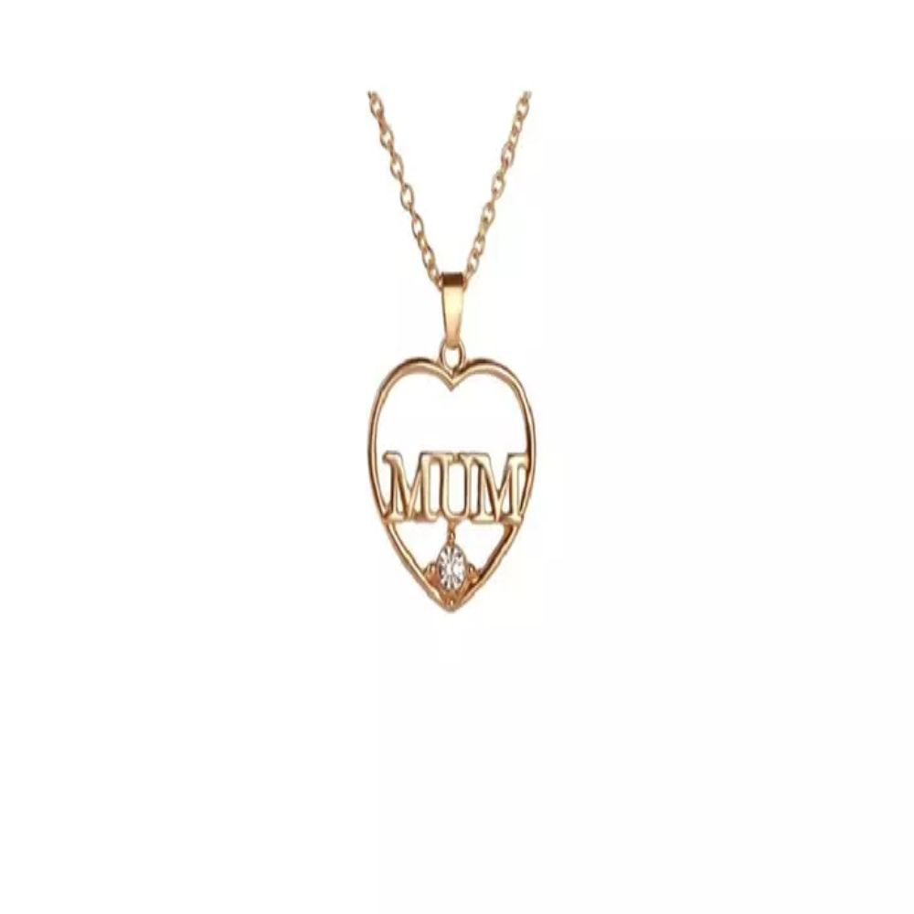 Fashion Mum Love Heart-Shaped Pendant Necklace For Women