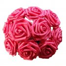 10 Heads 8CM Artificial Rose Flowers Wedding Bride Bouquet PE Foam DIY Home Décor (Red)