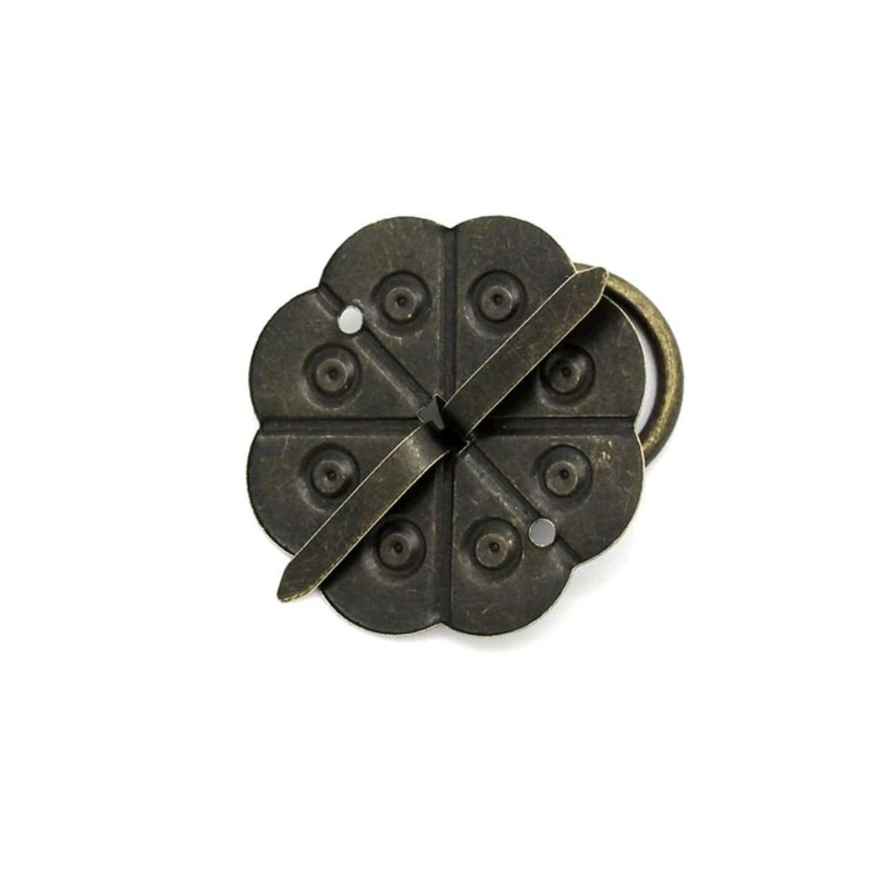 Classical Bronze Tone Quincunx Furniture Drawer Cabinet Desk Door Pull Box Handle Knobs With Screws