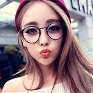 Fashion Retro Nerd Glasses Clear Lens Eyewear Unisex Eyeglasses Spectacles (Black)