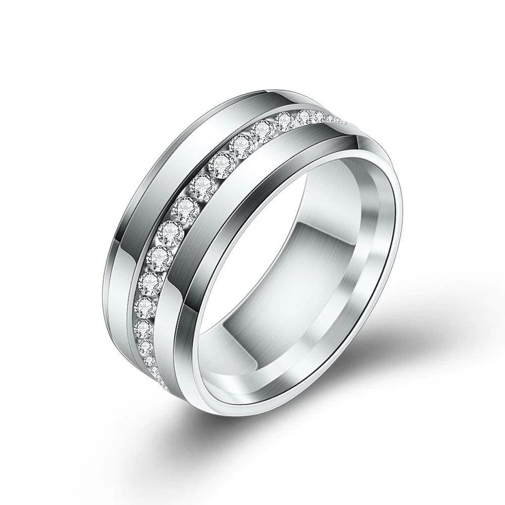 Fashion Titanium Stainless Steel Wedding Rings For Women (9)