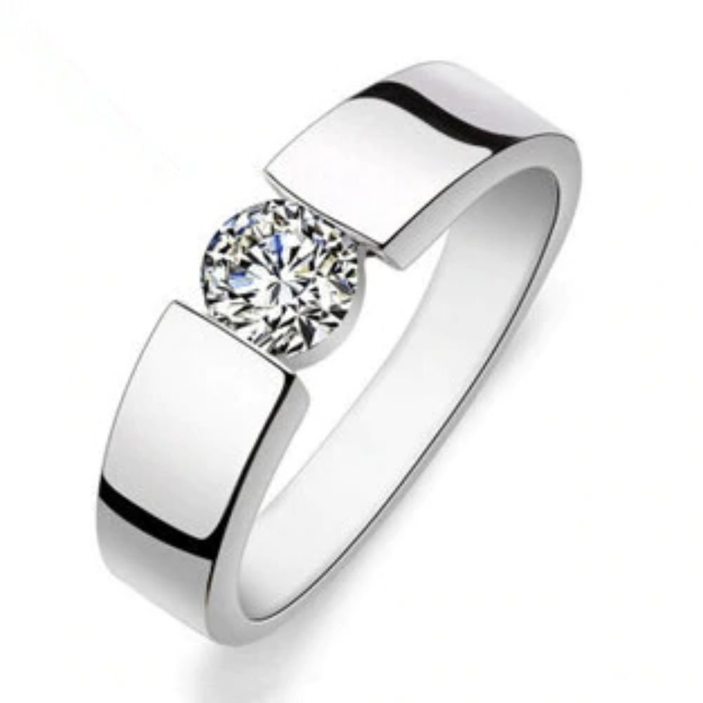 Fashion Shiny CZ Zircon 30% Silver Plated Finger Ring For Men (8)