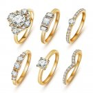 Fashion High Quality Crystal Gold/silver Ring Set Set For Women (Gold)