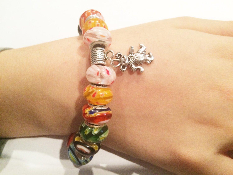 Grateful Dead Dancing Bear European Charm Bracelet