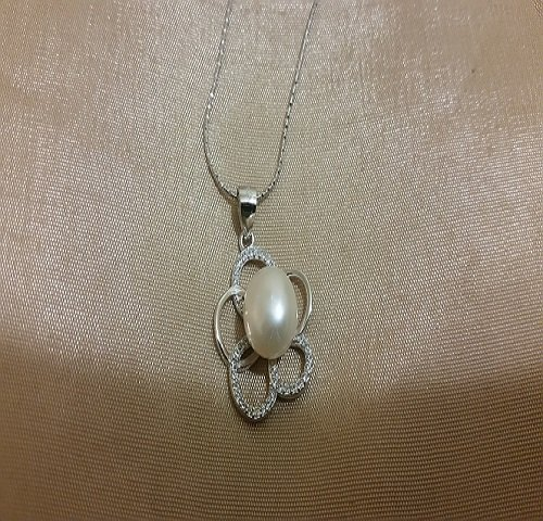 "Pearl Pendent ""Sterling Silver"""