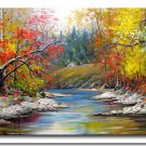 Handmade  wall art deco impressionism landscape oil painting on canvas