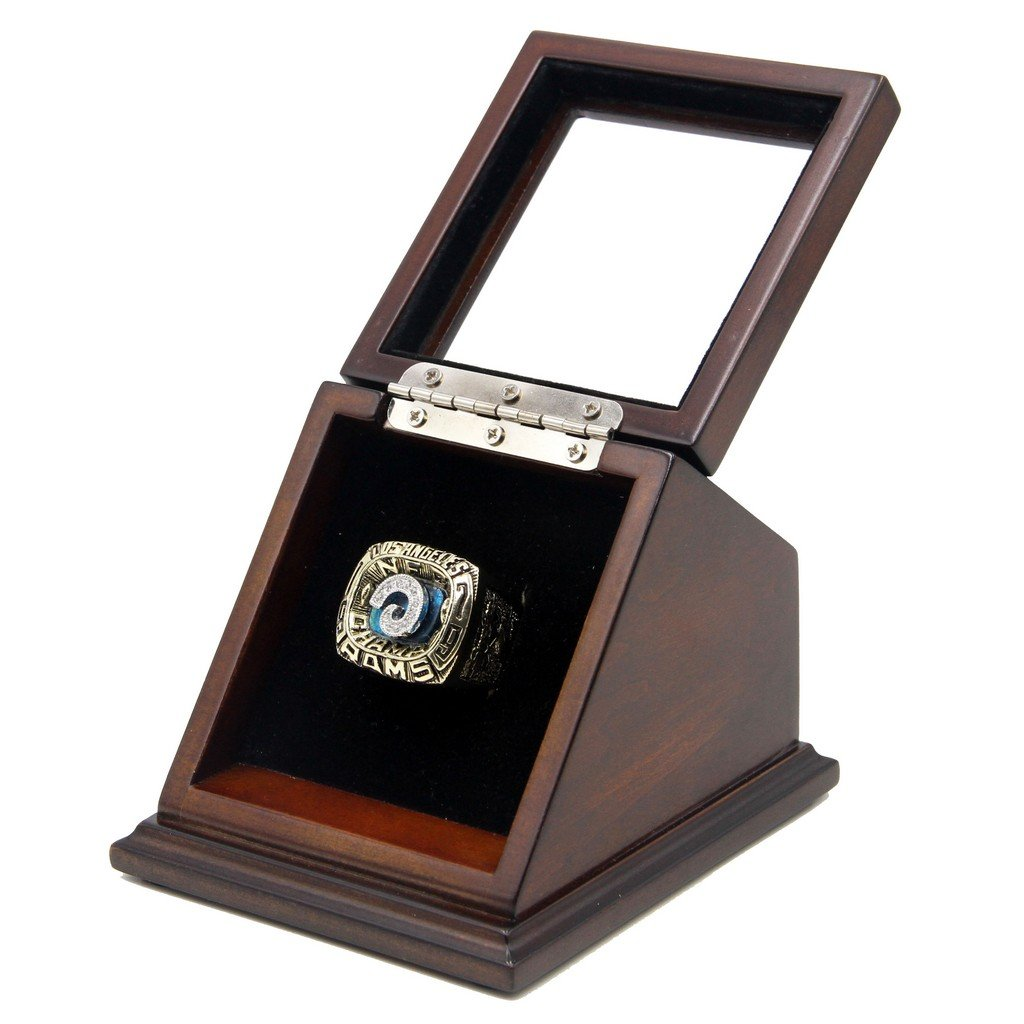 NFC 1979 Los Angeles Rams Super Bowl Replica Championship Rings with Wooden display Case
