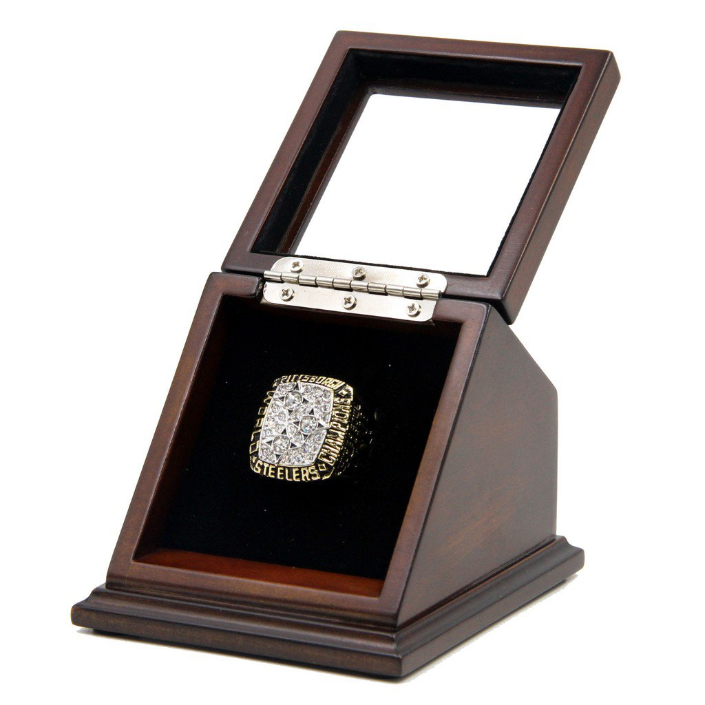 Pittsburgh Steelers SB 1978 XIII Replica Championship Rings with Wooden display Case US 11