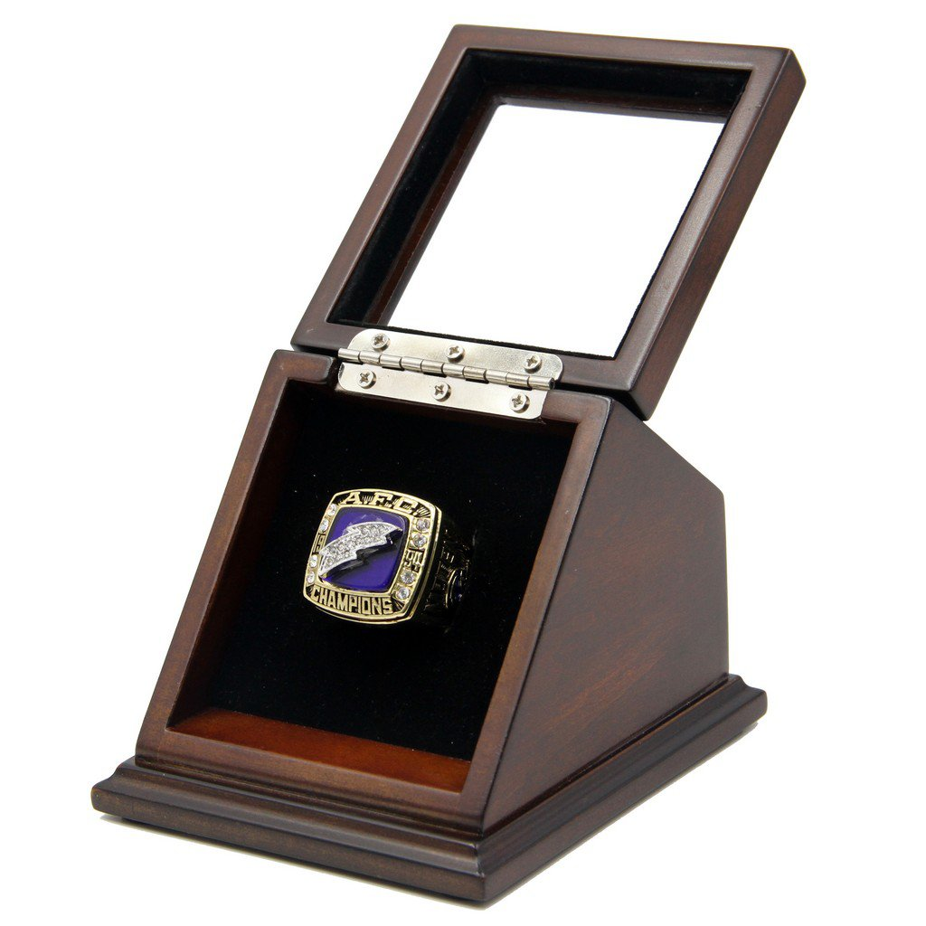 AFC 1994 San Diego Chargers Super Bowl  Replica Championship Rings with Wooden display Case