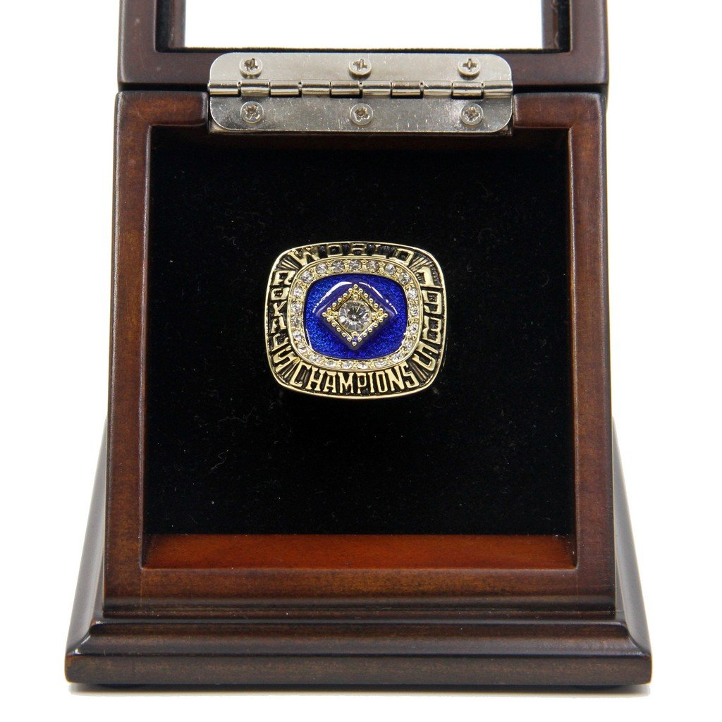 M-L-B 1985 Kansas City Royals World Series Replica Championship Rings with Wooden display Case