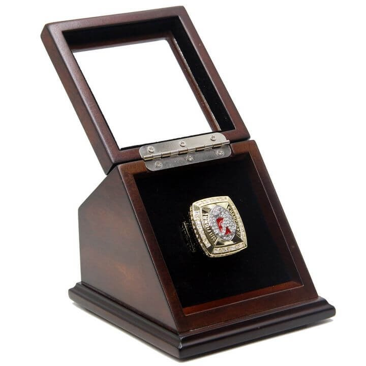 NCAA 2011 Alabama Crimson Tide Championship Replica Ring with Wooden box display Case Size 11