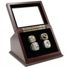 Pittsburgh Penguins 1991 1992 2009 2016 Championship Replica Fan Rings with Wooden Display Case Set
