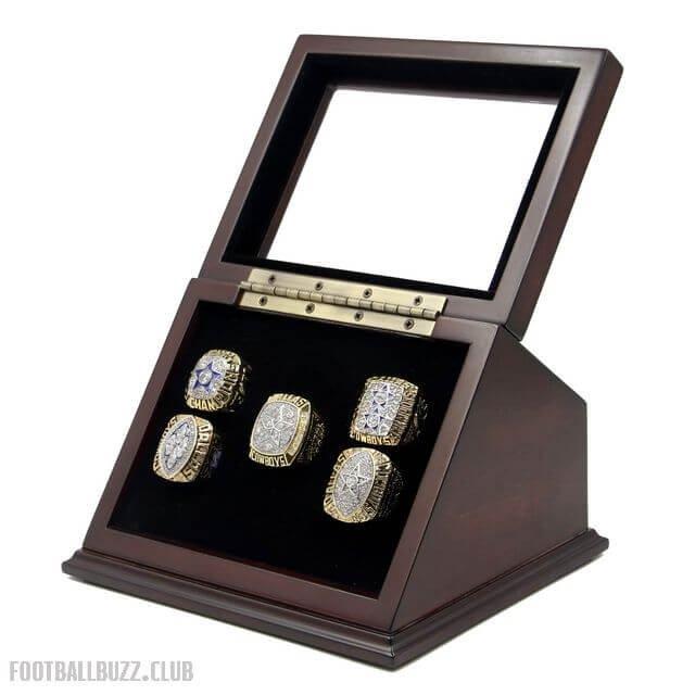 Dallas Cowboys 71 77 92 93 95 SB Replica Championship Rings Set with Wooden display Case Box