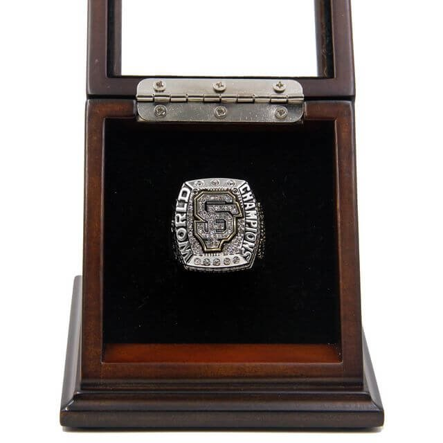 World Series 2014 San Francisco Giants Championship Ring with Wooden display Case Size 11 Bumgarner