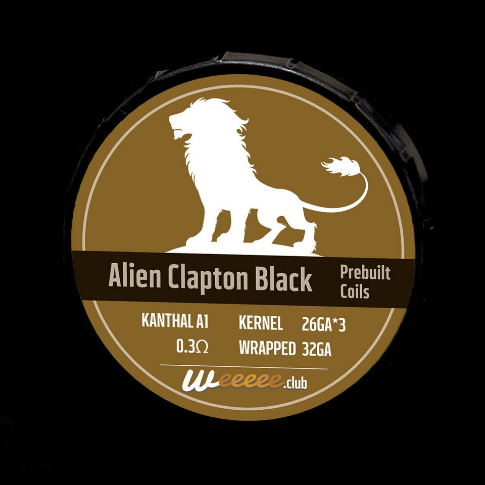 20x Pre Built Coils Alien Clapton Black Label Ready preMade by Heating Wire Kanthal A1 for RDA RTA