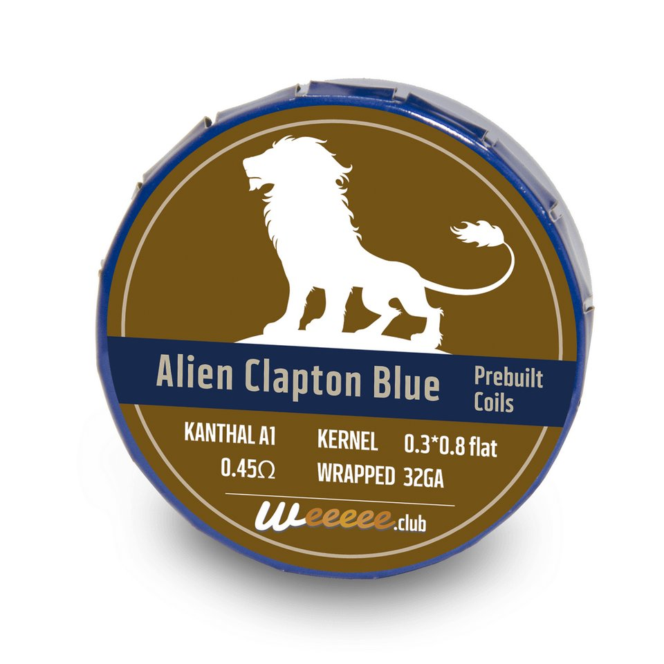 20x Pre Built Coils Alien Clapton Blue Label Ready preMade by Heating Wire Kanthal A1 for RDA RTA