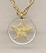 Cut Coin Pendant Necklace - Starfish