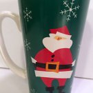 TALL GREEN CHRISTMAS SANTA CLAUS HOLIDAY COFFEE MUG