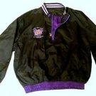 Vintage Super Bowl XXXI 1/4 Zip Blk Pullover Windbreaker Jacket Pro Player Sz M