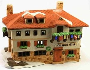 Dept 56 Christmas Alpine Village Series Gasthof Eisl Pub Inn Building 6540-4