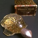 Vintage Avon Treasure Turtle Collectible Bottle with Charisma Cologne 1 oz, NIB