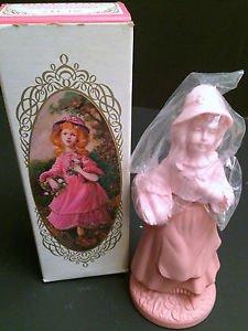 Rare Vtg Avon Pretty Girl Pink Collectible Bottle, Unforgettable Cologne 3oz,NIB