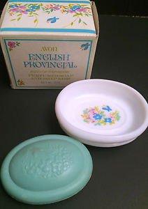 Vtg Avon English Provincial Bird of Paradise Perfumed Soap & Soap Dish 5 oz, NIB