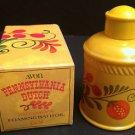 Vtg Avon Pennsylvania Dutch Collectible,Patchwork Scent Foaming Bath Oil 6oz,NIB