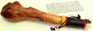Native American War Club, Inscribed with great details & Cherokee medicine wheel