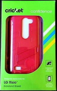 Exclusive ~ LG Risio ~ Pink Kickstand Case & Protective Shield NIB & FREE SHIP!