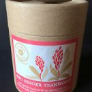 NIB! Partylite Red Ginger Teakwood Jar Soy Candle G57314 Brighter World RETIRED!