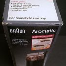 BRAUN Aromatic Coffee Grinder KSM4B Black Gourmet Ed w/Box, spoon/brush & manual