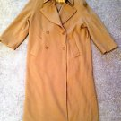 Womens Benard Holtzman by Harve Benard 100% Wool Size 8 Tan Trench Coat