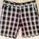 Mens J. Ferrar Sz 38 Brown Plaid Bermuda Shorts brown blue red white 100% cotton