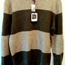 NWT Mens American Eagle Sz Large Striped Crew Neck Sweater Vintage Slim Fit Wool