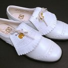 Vintage Jack Nicklaus White Metal Spiked Cleats Golf Shoes Womens Size 7.5 M NEW