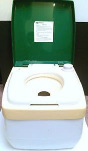 Vtg SEARS Portable Flush TOILET 73535 Camping Boating Tailgating Hiking CLEAN!!